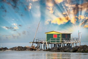 SST Jamaica hut op zee
